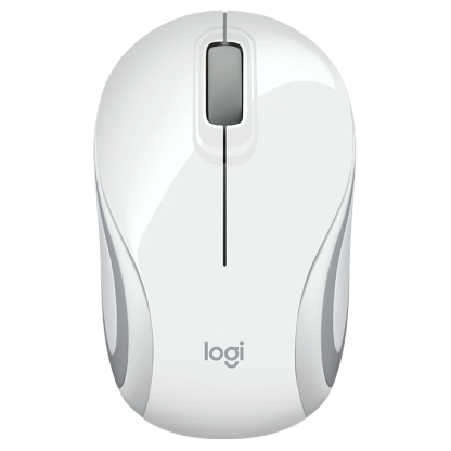 Logitech M187 Ultra Portable Wireless Mouse white